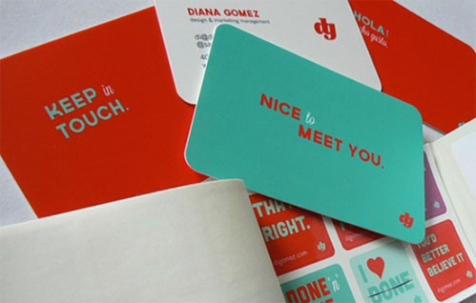 5 awesome business card designs canadian printing news bright colors definitely draw attention and will ensure that your business card wont get lost in the shuffle of a stack of boring white cards reheart Choice Image